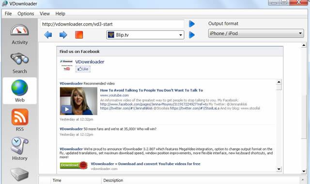 VDownloader – бесплатный (для некоммерческого использования) и простой в использовании инструмент