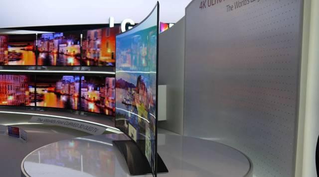 Ultra HD телевизор с изогнутым экраном от LG