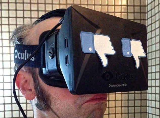 Комическая картинка на тему покупки Facebook компании Oculus