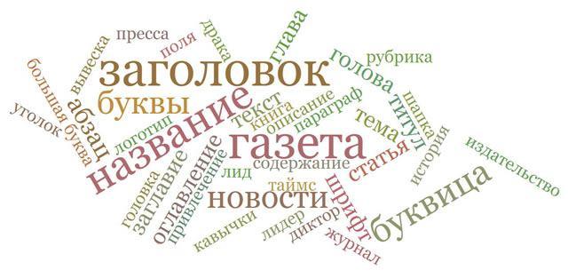 Ассоциации к слову «заголовок»