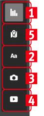 Элементы управления инфографикой на сайте infogr.am
