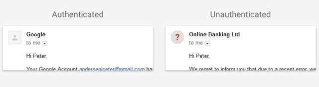Обновленное представление неопознанных отправителей в сообщениях Gmail
