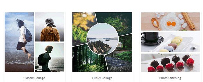 Коллекция шаблонов коллажей на Fotor
