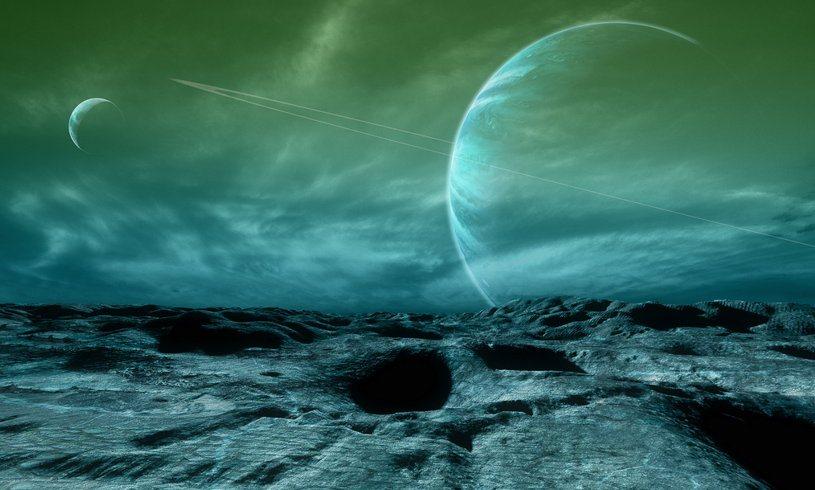 Художественное представление пейзажа на внеземной планете