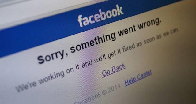 Иногда при входе в Facebook случаются ошибки