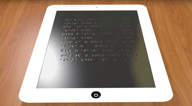 Проект нового планшета для слепых, отображающего шрифт Брайля