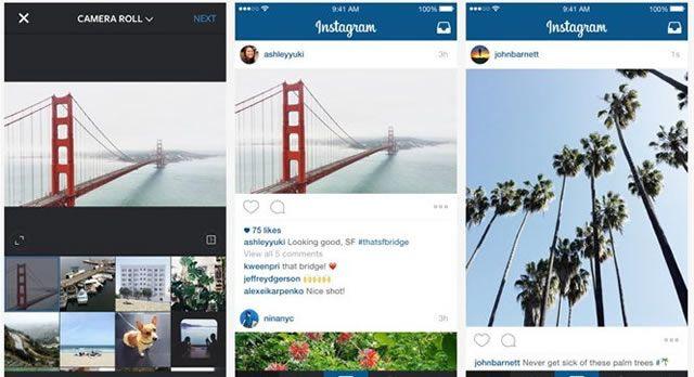 Прямоугольные фотографии на Instagram – это уже возможно