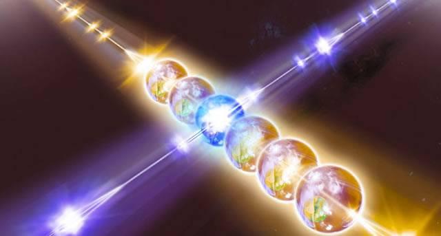 Образное представление о передаче информации в квантовом Интернете