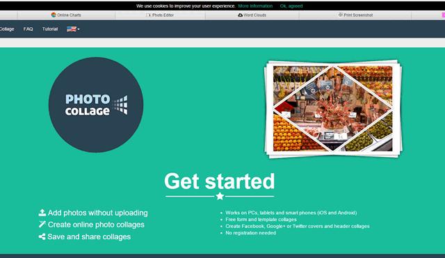 Стартовая страница сервис коллажей PhotoCollage