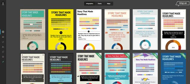 Выбор дизайна для инфографики создаваемой на infogr.am