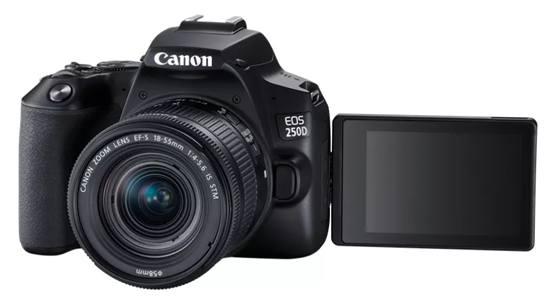 Фотоаппарат Canon EOS 250D для начинающего с возможностью съемки 4K