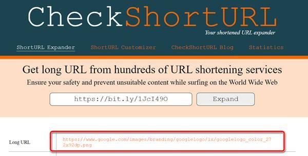 Использование сервиса CheckShortURL для проверки безопасности короткой ссылки