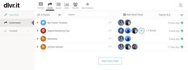 Сервис Dlvr для автоматической публикации в социальных сетях