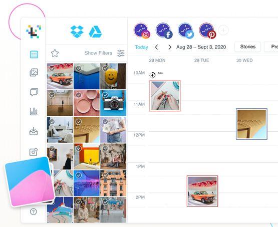 Визуально планируйте свои социальные посты, публикуйте их автоматически с помощью Later