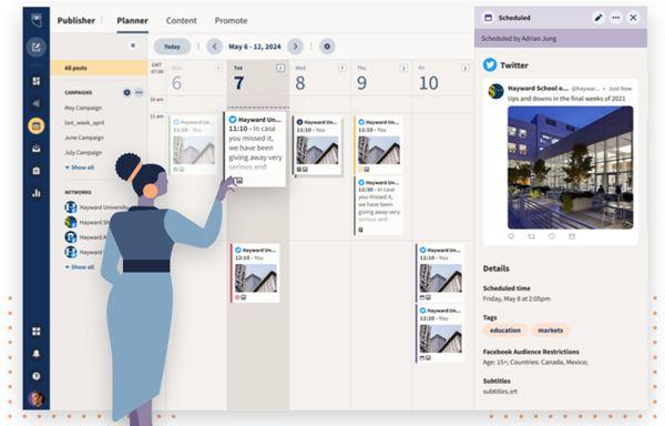 Легко управляйте всеми своими социальными сетями и получайте результаты с Hootsuite