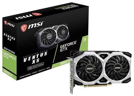 Видеокарта для майнинга MSI Gaming GeForce GTX 1660 Ti Ventus 6 ГБ