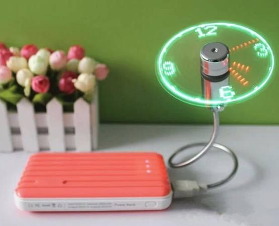 USB-вентилятор с отображением времени