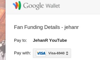 Использование Google Wallet для отправки пожертвования на YouTube