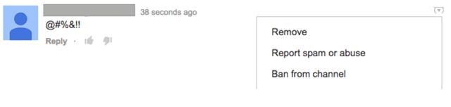 Функции модерирования комментариев на YouTube