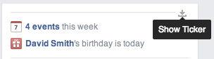 Включение панели активности на Facebook