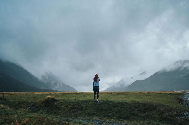 Пейзаж снятый широкоугольным объективом