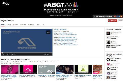 Оформление музыкального канала на YouTube – AnjunaBeats