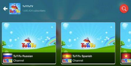 Языковые версии YouTube канала TuTiTuTV