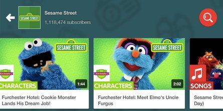 Разделы приложения YouTube для детей