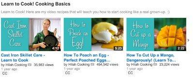 Видео о базовых правилах приготовления пищи