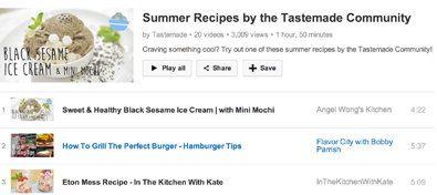 Канал Tastemade добавляет кулинарные видео подписчиков с проверенными рецептами в плейлист