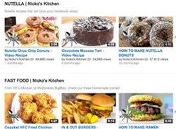 Качественно организованная страница кулинарного канала на YouTube