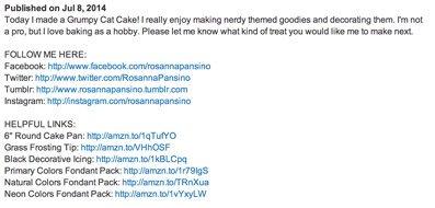 Полезные ссылки в описании к кулинарному видео