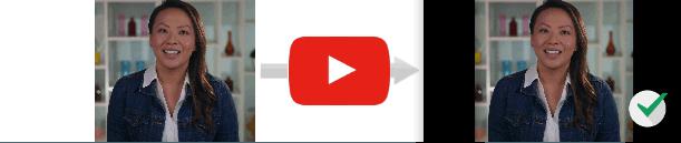 Видео в соотношении 4:3 будет иметь черные полосы по бокам